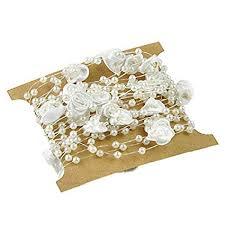 TOOGOO(R) <b>5 Meters Fishing Line</b> Artificial Pearls Flower Beads ...