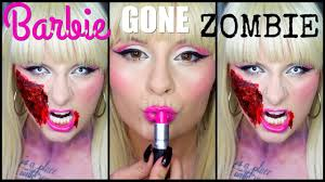 collab barbie gone zombie makeup