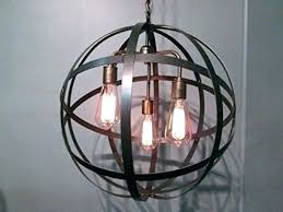 orb pendant light wooden orb light orb light industrial steel orb sphere wine barrel ring