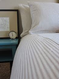 Ticking Stripe Duvet Cover - 5 Colors Made to Order