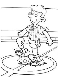 Small Picture Lets start the Soccer Game with the First Kick Coloring Page