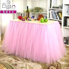 round table skirt tulle for one piece size luau diy