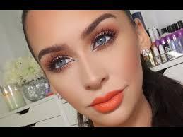 orange copper spring makeup tutorial