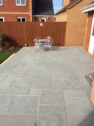 patio slabs. Kota Blue Natural Limestone Paving Slabs - Mix Size Patio Pack