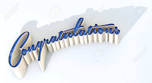 word of congratulations an extruded curvy text spelling out the word congratulations stock