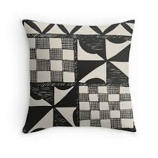 Small Picture TAPA CLOTH PRINT Cushion Cover Tapa Cloth Print Throw Pillow