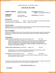 Music Teacher Resume Objective Examples Private Sample Education