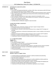 Game Developer Resume Game Developer Resume Samples Velvet Jobs 1