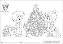 Een Gezellige Tonder Kerst Kleurplaat Versier Jij De Tekening Net