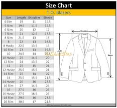 36 Suit Size Chart T O Collection Boys Black Suit Separates Skinny Slim