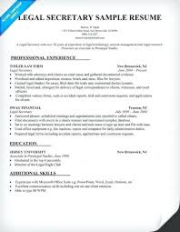 Resume Objective For Legal Assistant Best of Legal Assistant Resume Template Professional Sample Secretary
