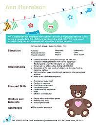 Nanny Resume Examples Fresh Babysitter Job Description Lovely Infant