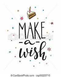 Make Wish Lettering Typography