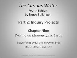 essay the ethnographic essay