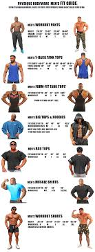 Tank Top Size Chart Men Physique Bodyware Mens Size Chart Workout Pants Y Back