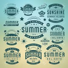 typography templates summer holidays design elements and typography design retro
