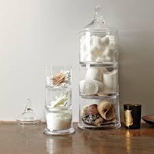 Stacked apothocary jars