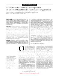 evaluation of excessive anticoagulation in a group model health first page pdf preview