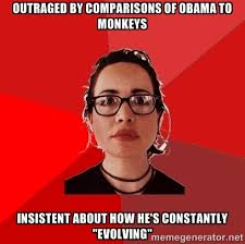 outraged by comparisons of obama to monkeys insistent about how ... via Relatably.com