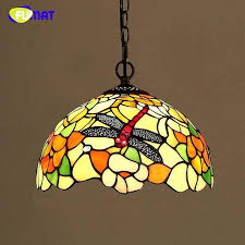 stained glass dragonfly glass dragonfly shade lamp creative stained glass pendant lamp for dining room living