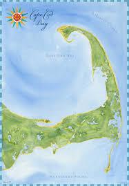 Cape Cod Chart Cape Cod Watercolor Chart