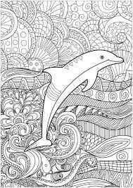 Dolphin Dream Designs Coloring Book Color Pages Coloring Dolphin Psychedelic Background Color