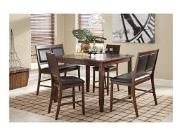 Meredy D395323 5Piece Dining Room Counter Table Set with 2 Benches by  Signature Design by Ashley