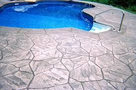 Stamped Concrete Pool Deck Massachusetts