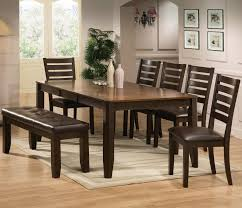 stylist design ideas 7 piece dining table set crown mark elliott and chairs with bench item