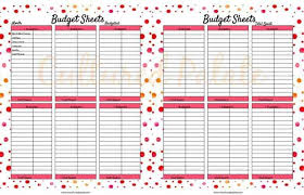 Daily Life Planner Budget Sheet Cultured Palate