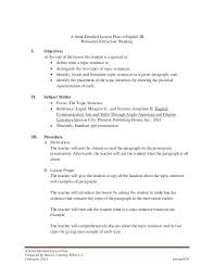English Lesson Plan Template High School Images Of Detailed Lesson ...