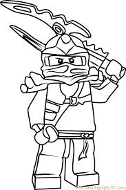Ninjago Jay Coloring Pages Ninjago Jay Coloring Page Free Lego