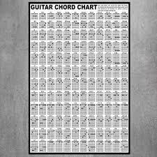 Guitar Chord Poster Educational Guitar Chart Instrution Wall