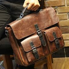 2017 new brown leather office bags for men designer briefcase male business portfolio mens shoulder messenger bag handbag b00014 shoulder bags for men mens