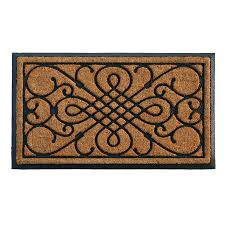 style selections styleselections black rectangular door mat mon 2 ft x 3