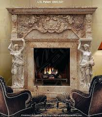 grand fireplace patent a grand antique caryatid marble mantel 62 grand cherry electric fireplace big lots
