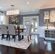 grey dining room wall decor