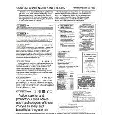 Near Eye Chart Contempory 11900r Test Card