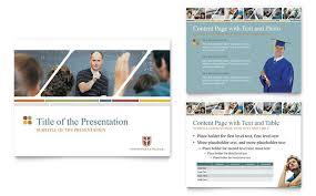 College Templates College University Powerpoint Presentation Template Design