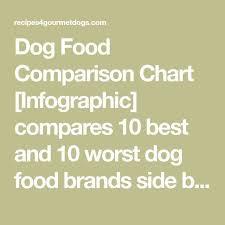 Food Comparison Chart Food Infographic Dog Food Comparison Chart Infographic