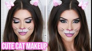cute y cat makeup tutorial quick easy costume