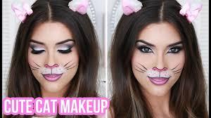 cute y cat halloween makeup tutorial quick easy halloween costume