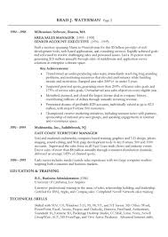 resume example profile