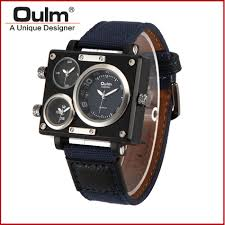 online get cheap rectangle face watches for men aliexpress com 5cm big face men s army watches oulm 3595 rectangular watch montres de marque de luxe reloj