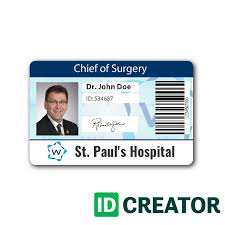 front of id card doctor id card 233
