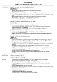 Sample Resume For Microbiologist Quality Control Microbiologist Resume Samples Velvet Jobs 2