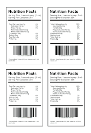 Nutrition Labels Template Food Label Template Word Jaxos Co
