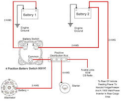 how to wire dual batteries isolator battery selector switch Dual Battery Switch Wiring Diagram or, another example of switch only guest dual battery switch wiring diagram