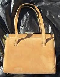 lennox bags vintage. image is loading lennox-bags-vintage-tan-suede-double-strap-handbag- lennox bags vintage