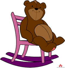 chair clipart. bear clipart sitting on chair